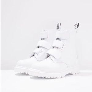 **ISO** Dr Marten Coralia Velcro Boots in White